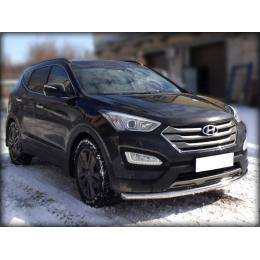 Защита переднего бампера для Hyundai Santa Fe (d57)