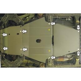 Защита картера двигателя для Great Wall Hover H3/H5 (2.0 дизель) (4 части)