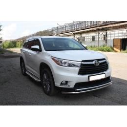 Пороги с площадкой D 60,3   для Toyota Highlander 2014-