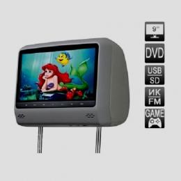"""Подголовник со встроенным DVD плеером и LCD монитором 9"""". Cенсорные кнопки управления."""