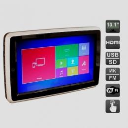 Навесной монитор на подголовник с диагональю 10.1 дюймов, со встроенным Full HD медиаплеером, Miracast и HDMI AVIS Electronics AVS1088TM