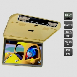 Автомобильный потолочный монитор 13,3 со встроенным FULL HD медиаплеером AVIS Electronics AVS440MPP