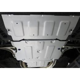 Комплект защиты картера + КПП + РК на Audi A6 (Алюминий) 2018-