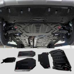 Защита картера, КПП,топливный бак,редуктор (4 части) для Toyota Rav 4, V - 2.5; АКПП; с вырезом под глушитель