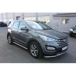 Защита порогов D 60,3 Hyundai Santa FE 2012-