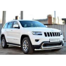 Защита порогов D 60,3 Jeep Grand Cherokee 2013-