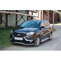 Защита переднего бампера Lada XRAY 2016-   D 50,8