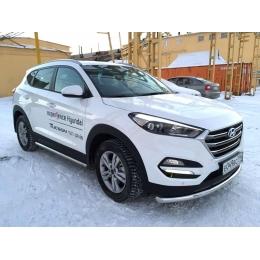 Защита переднего бампера Hyundai  Tucson 2015