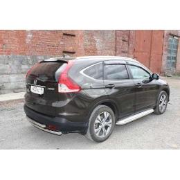 Защита задняя двойая D 50,8/50,8  для Honda CR-V 2,4 2012-2015