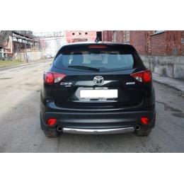 Защита задняя (ОВАЛ) D 75х42  Mazda  CX-5 2012-