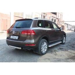 Защита задняя (ОВАЛ) D 75х42  для Volkswagen   Touareg 2010-