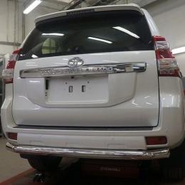 Защита заднего бампера для Toyota Land Cruiser Prado (d76)