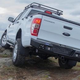 Бампер силовой задний AL (черный) для пикапа Ford Ranger 2011-2015, 2015-