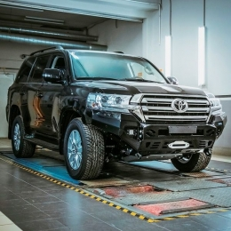 Бампер силовой передний для Toyota Land Cruiser 200 2015-