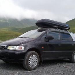 Автобокс CLASSIC 500 (216*73*38) черный, серый, одностороннее открывание, матовый