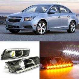 Дневные ходовые огни для Chevrolet Cruze (2009-2012) режим поворота