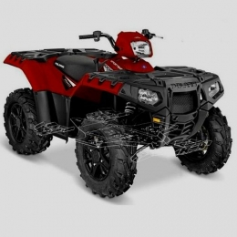 Защита на Polaris Sportsman XP 1000,композит