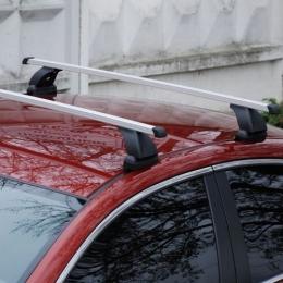 Багажник на крышу автомобиля Lux прямоугольная дуга в штатные места