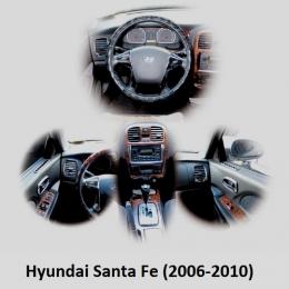 Накладки хромированные интерьера комплект  для Hyundai Santa Fe (2006-2010)