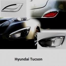 Накладки хромированные на ПТФ и задние отражатели для для Hyundai Tucson  (2010 -)