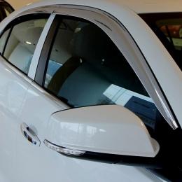 Дефлекторы боковых окон хром для Chevrolet Cruze (2011-)