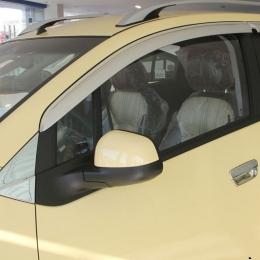 Дефлекторы боковых окон хром для Chevrolet Spark (2011-)