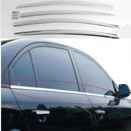Накладки хромированные боковых стекол нижние для Kia Rio IV sedan (2013-)