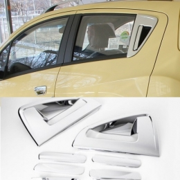 Накладки хромированные на дверные ручки для Chevrolet Spark (2011-)
