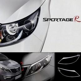 Накладки хромированные на передние фары для Kia Sportage (2010-)