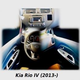 Накладки интерьера хромированные комплект для Kia Rio IV (2013-)