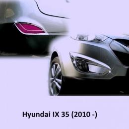Накладки хромированные на ПТФ и задние отражатели для для Hyundai IX 35 (2010 -)