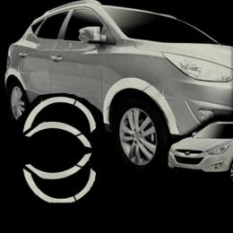 Накладки хромированные на колесные арки для Hyundai IX 35 (2010-)