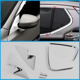 Накладки хромированные на стойку зеркала и заднюю форточку для Kia Optima (2010-)