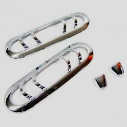Накладки хромированные на омыватели и повторители для Ssang Yong Actyon Sports (2005-2011)
