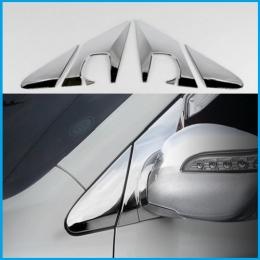 Накладки хромированные на стойку вокруг зеркала для Hyundai Tucson ix (2010 -)