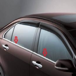 Накладки хромированные боковых окон нижние  для Hyundai Solaris (2011-)