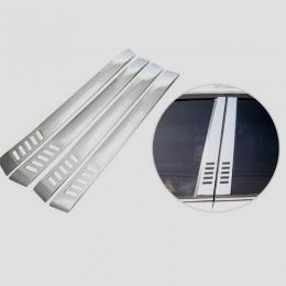 Накладки хромированные на средние стойки дверей для Hyundai Santa Fe (2006 -2010)