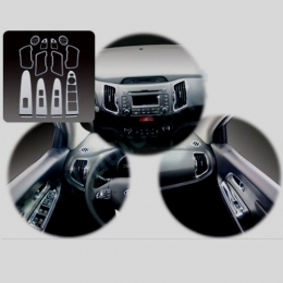 Накладки интерьера хромированные комплект для Kia Sportage (2010-)