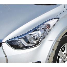 Накладки хромированные передних фар для Hyundai ix35 (2010-)
