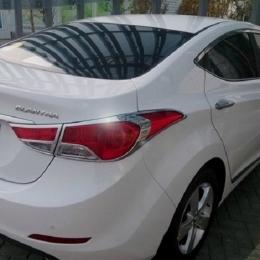 Накладки хромированные на задние фонари для Hyundai Elantra (2011 - 2013)