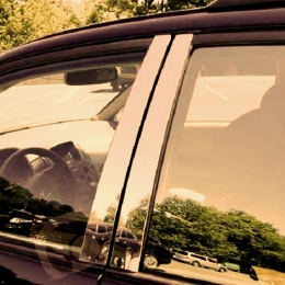 Накладки хромированные на стойки дверей для Kia Rio IV (2013-)