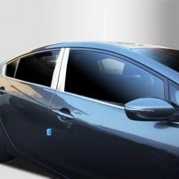 Накладки хромированные на средние стойки дверей для Hyundai Solaris (2011-)