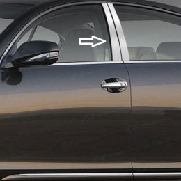 Накладки хромированные на средние стойки дверей для Chevrolet Cruze (2011-)