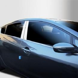 Накладки хромированные на средние стойки дверей для Hyundai Elantra (2006 -)