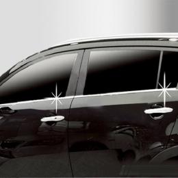 Накладки хромированные боковых стекол нижние для Kia Sportage (2004-)