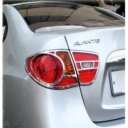 Накладки хромированные на задние фонари для Hyundai Elantra HD (2006 - 2010)