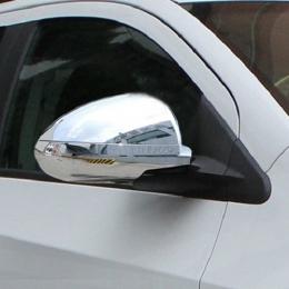 Накладки хромированные  на боковые зеркала (без ПП) для Hyundai Elantra (2006 - 2010)
