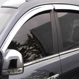 Дефлекторы окон хромированные для Hyundai Sonata EF (TAGAZ) (2000 - 2010)