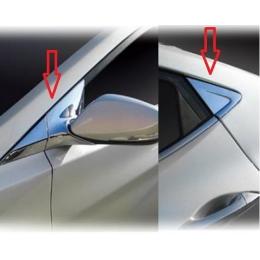 """Накладки хромированные на стойки """"А"""" и """"С""""  для Hyundai Elantra (2011 -)"""