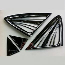 Накладка хромированная на заднюю форточку для Hyundai IX 35 (2010 -)